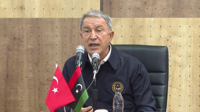 Bakan Akar: Libyalı kardeşlerimizin sıkıntılarını paylaşıyoruz