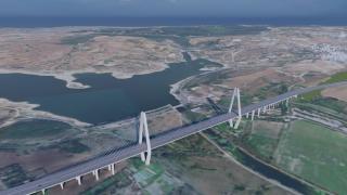 Kanal İstanbul'un ilk köprüsü