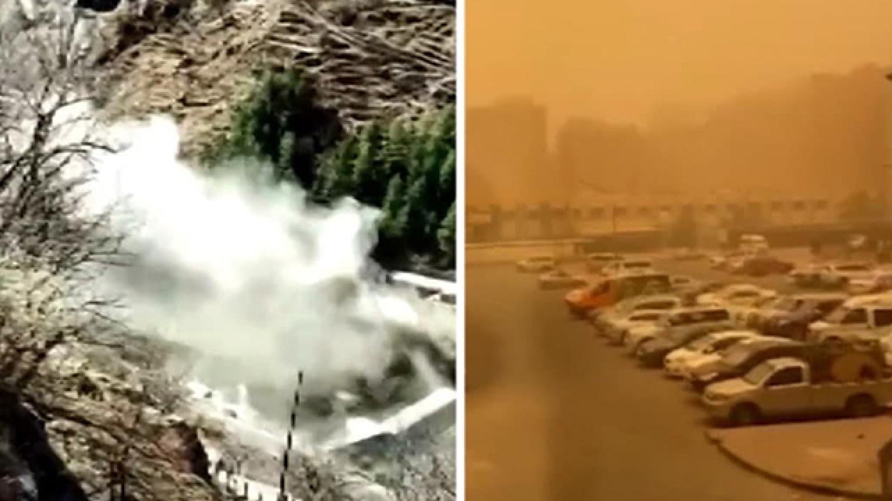 Kuveyt'te kum fırtınası, Hindistan'da sel