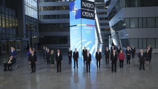 Liderlerden NATO Zirvesi öncesi aile fotoğrafı