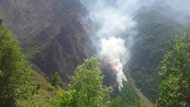 Tuncelide iki ayrı bölgede orman yangını