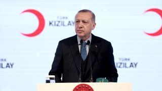 Cumhurbaşkanı Erdoğan Türk Kızılay'ın kuruluş yıl dönümünü kutladı