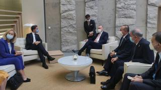 Erdoğan, Rutte ile görüştü