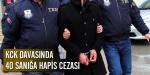 KCKda 40 sanığa hapis cezası
