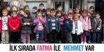 İlk sırada Fatma ile  Mehmet var