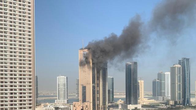 BAE'deki binada korkutan yangın