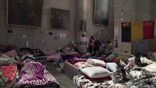 Belçika'daki sığınma merkezinde grev