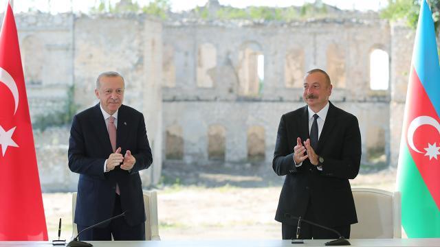 Erdoğan ve Aliyev Şuşa Beyannamesine imza attı