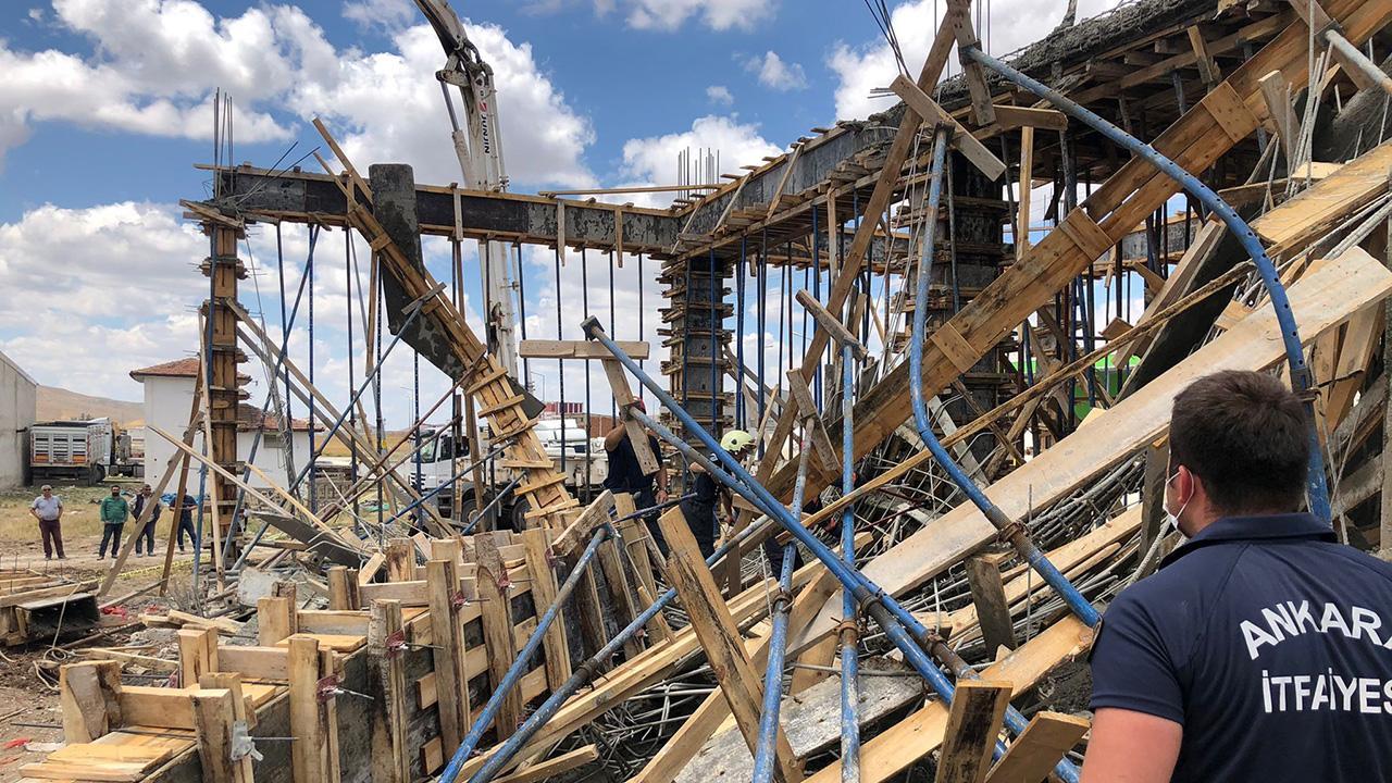 Ankara'da inşaatta göçük: 1 ölü, 2 yaralı