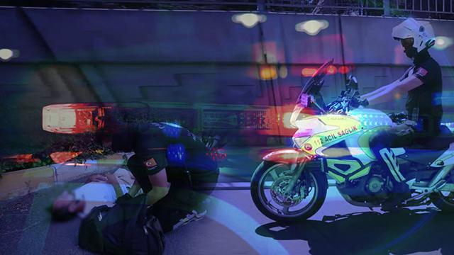 """Motosikletli ambulansların """"Altın dakikası"""""""