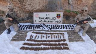 Hakkari'de teröristlere ait mühimmat ele geçirildi
