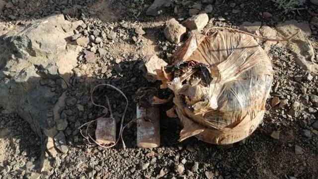 Terör operasyonunda ele geçirilen patlayıcı imha edildi