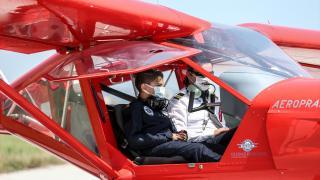 Geleceğin pilotlarına Bursa semalarında uçuş deneyimi yaşatıyorlar