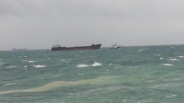 Kartal açıklarında sürüklenen gemiye müdahale
