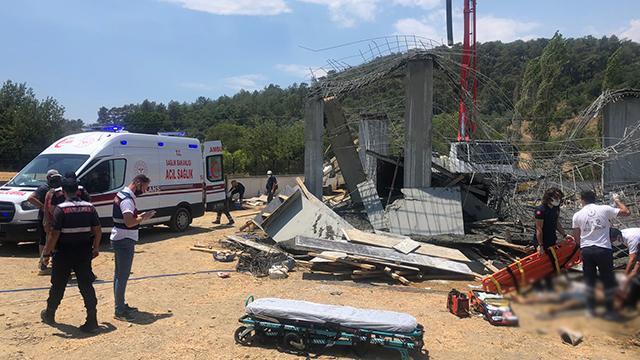 İnşaatın beton dökümünde göçük: 1 ölü, 2 yaralı