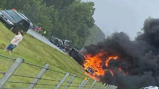 ABD'de 18 araç birbirine girdi: 9'u çocuk 10 ölü