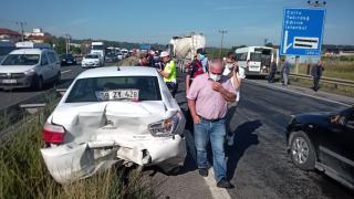 Tekirdağ'da zincirleme trafik kazasında 7 kişi yaralandı