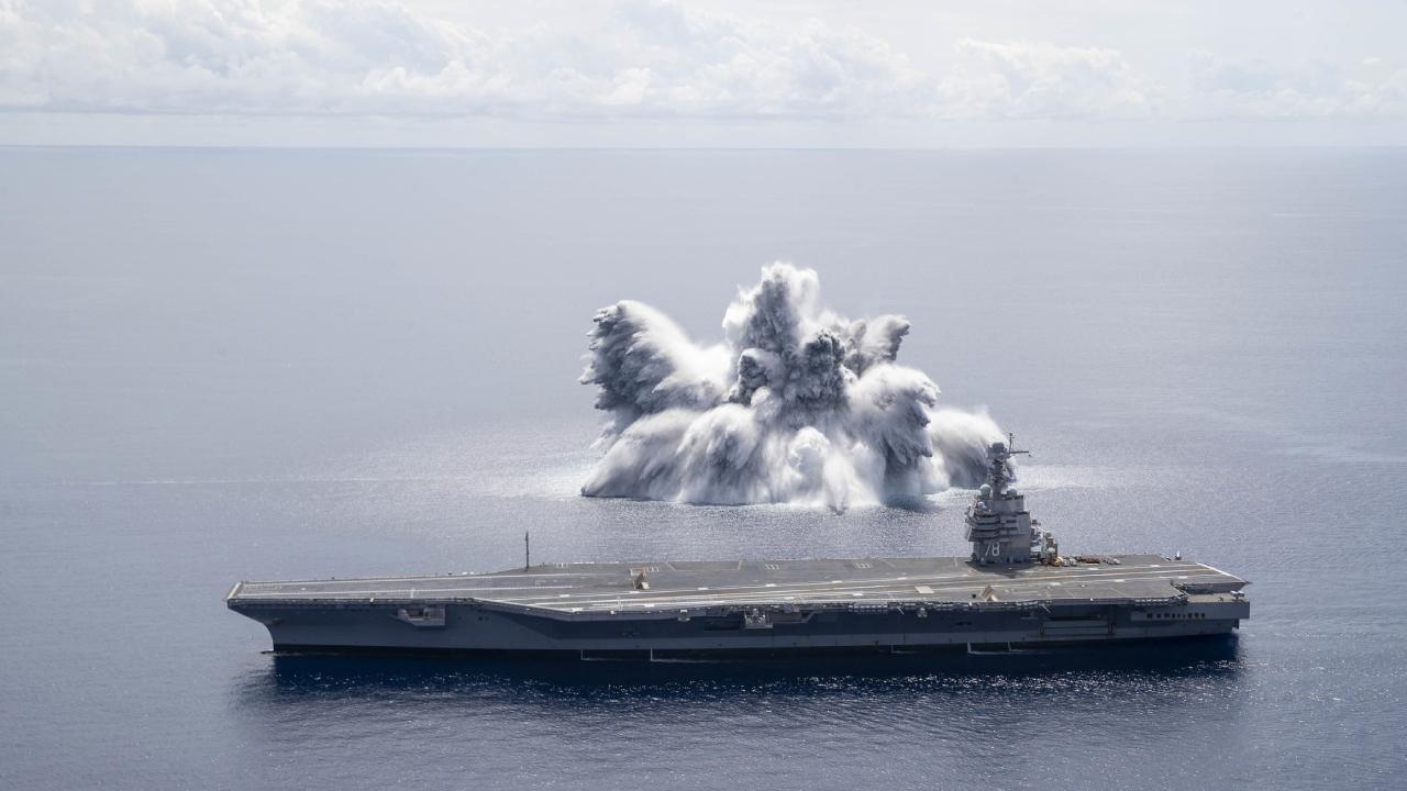 ABD'nin uçak gemisine deprem gibi test