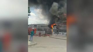 Ankara'da fabrika yangını: 9 yaralı