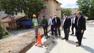 Çubuk'ta kırsal mahallelerde doğalgaz boru hattı döşeme çalışmaları başladı