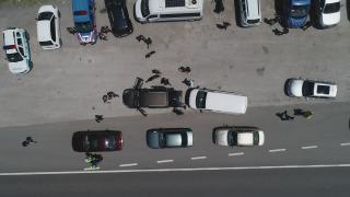 """Düzce'de drone destekli """"Huzurlu Sokaklar ve Narkotik Suçları Uygulaması"""" yapıldı"""