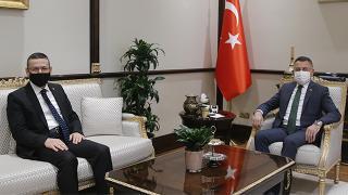 Cumhurbaşkanı Yardımcısı Oktay, Sayıştay Başkanı'nı kabul etti