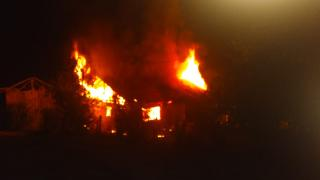 Düzce'de çıkan yangında tek katlı müstakil ev kullanılamaz hale geldi