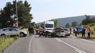 Bolu'da otomobil ile cip çarpıştı: 2 ölü, 4 yaralı
