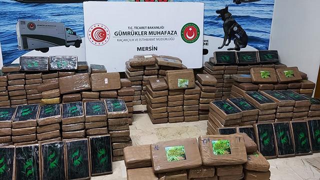 Mersin Limanında 463 kilogram kokain ele geçirildi