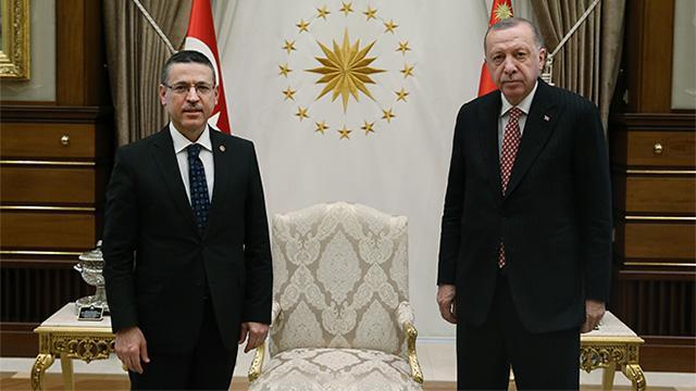 Cumhurbaşkanı Erdoğan, Sayıştay Başkanı Başı kabul etti