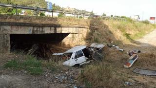 Manisa'da otomobil menfeze düştü: 1 ölü, 1 yaralı