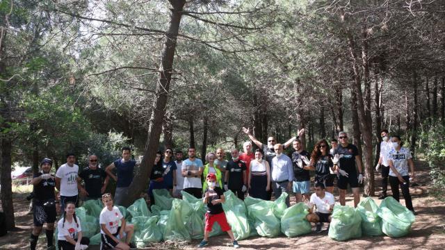 Aydos Ormanında temizlik çalışması başlatıldı
