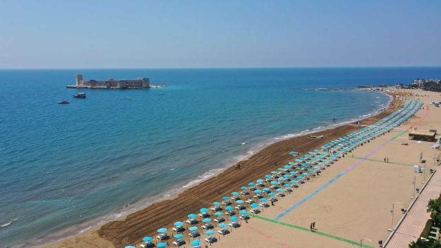 Mersin Kızkalesi Plajı mavi bayrağa kavuştu