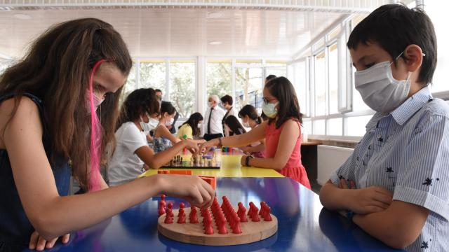 Muğlada öğrenciler okullarındaki etkinliklerle eğlenceli vakit geçiriyor