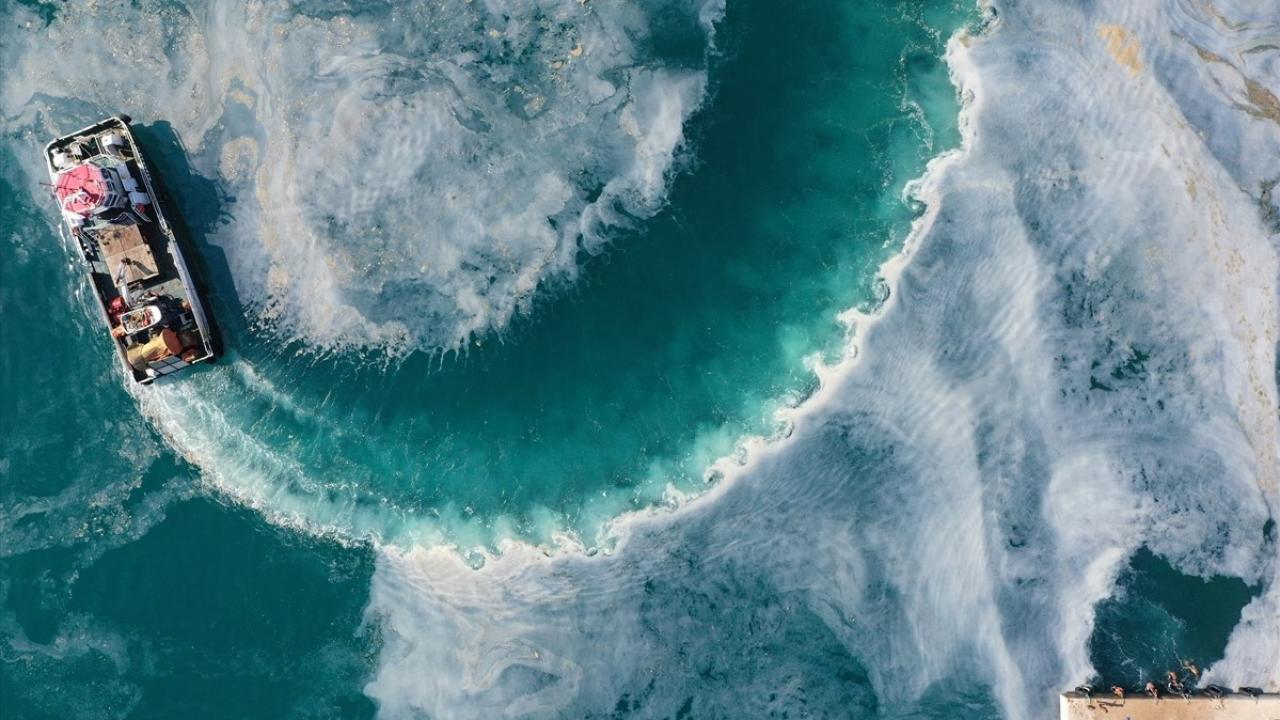 Bir yanda müsilaj temizliği, diğer yanda deniz keyfi