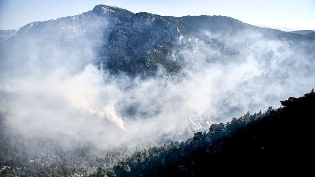 Mersinde dün başlayan orman yangını kontrol altına alındı