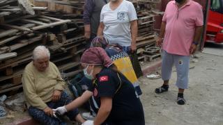 Amasya'da itfaiye yangın çıkan evde bulunan kedi yavrularını kurtardı