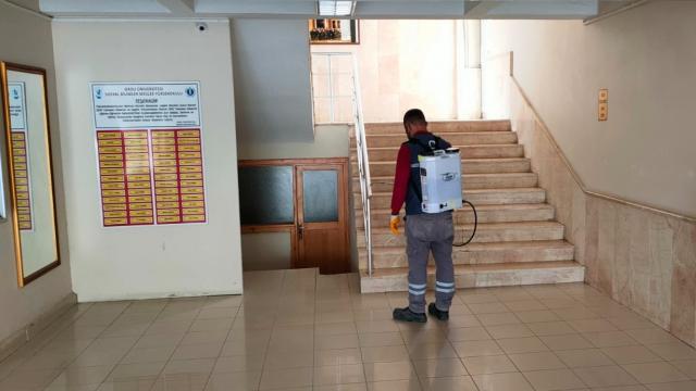 Orduda YKS öncesi okullar dezenfekte edildi