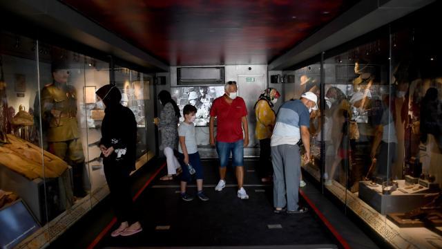 Çanakkale Mobil Müze tırı Kuşadasında