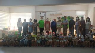 Bursa'da meslek lisesinin uygulama anaokulu öğretmen ve öğrencileri TEMA gönüllüsü oldu