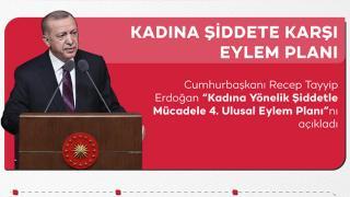Cumhurbaşkanı Erdoğan: Kadına yönelik şiddetle mücadeleyi güçlendiriyoruz