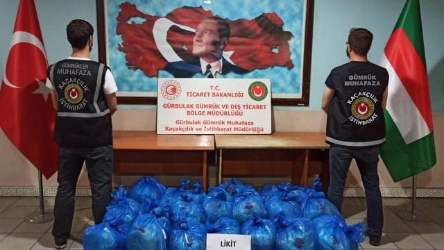 Gürbulakta 462 litre likit uyuşturucu ele geçirildi