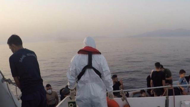 Bodrumda 25 göçmen kurtarıldı