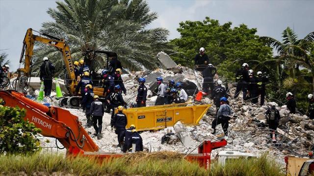 Miamide çöken binada hayatını kaybedenlerin sayısı 46ya çıktı