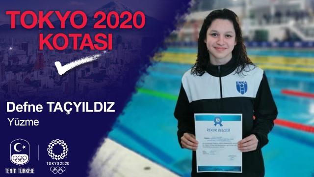 Milli yüzücü Defne Taçyıldız olimpiyat kotası aldı