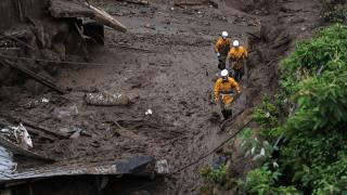 Japonya heyelanda kaybolan 5 kişiyi arıyor