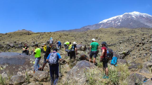 Terörden temizlenerek tırmanışa açılan Ağrı Dağına dağcıların ilgisi artıyor