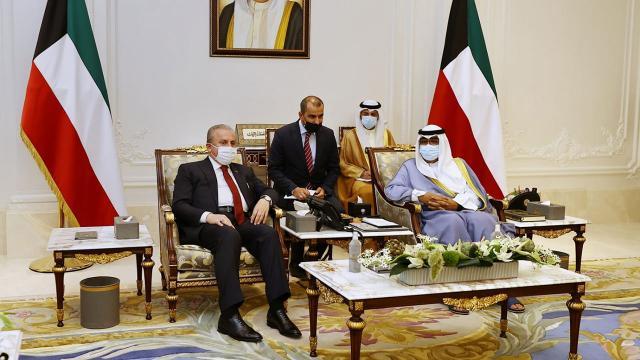 TBMM Başkanı Şentopun Kuveytte yoğun diplomasi trafiği