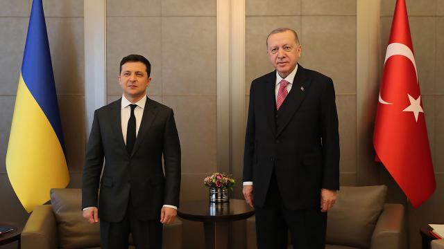 Cumhurbaşkanı Erdoğan Zelenski ile görüştü