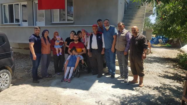 Suriyede yaralanan Piyade Uzman Çavuş Ahmet Karakuş, Afyonkarahisardaki babaevine getirildi